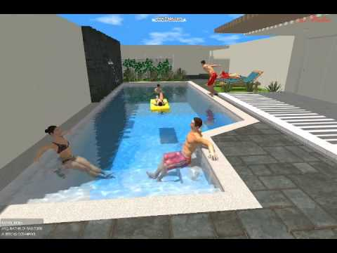 Albercas oceanpool youtube for Alberca con jardin