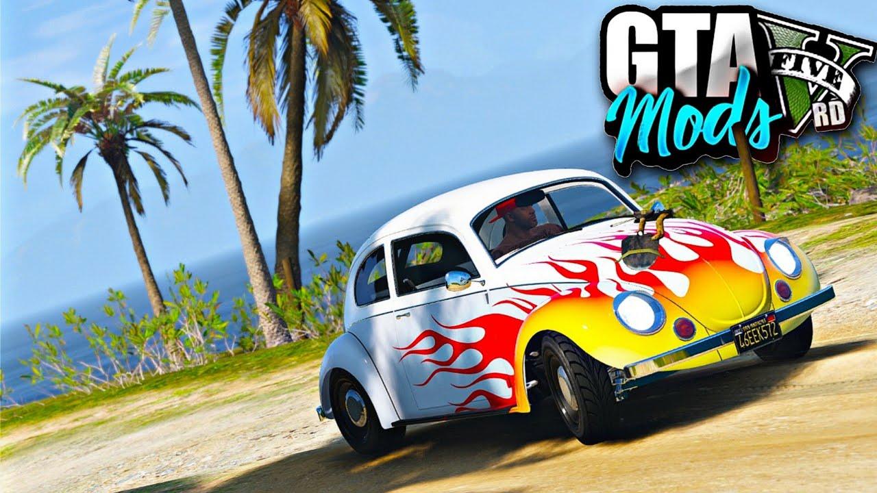 GTA V : TRILHA COM O FUSCÃO QUE DÁ GRAU NA NOVA ILHA DO GTA 5! ( NO VOLANTE ) - GTA 5 MODS