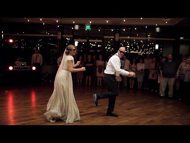 BEST surprise father daughter wedding dance to epic song mashup | Utah Wedding Videographer