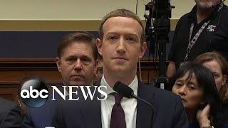 Facebook CEO testifies on cryptocurrency, free expression l ABC News