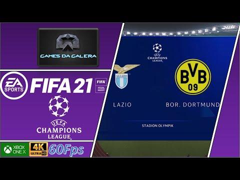 FIFA 21 - UEFA CHAMPIONS LEAGUE - LAZIO X BORUSSIA DORTMUND - 1° RODADA [4K✔60fps]
