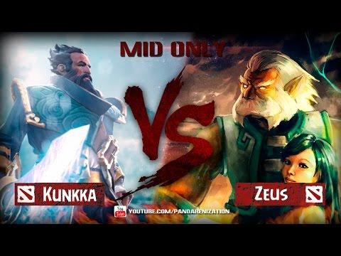 видео: kunkka vs zeus [dota 2 Битва Героев midonly]