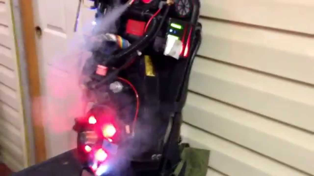 Ghostbusters Proton Pack Upgraded With Video Game Lights
