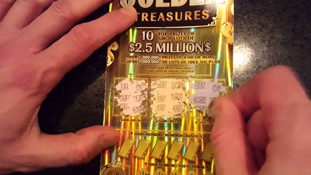 Golden Treasures Scratch Ticket