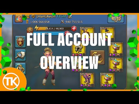 Lords-Mobile | FULL ACCOUNT OVERVIEW 1B MIGHT 11K HERO // TROOPS, HEROES, STATS, GEAR + RALLY!!🔥