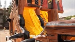 Батут-горка Пиратский корабль