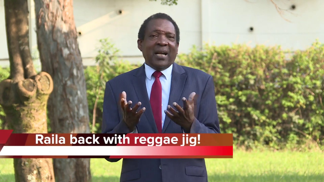 Raila back with raggae jig!
