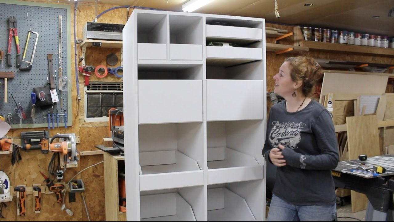 Building A Freestanding Pantry With Pull Out Drawers Youtube