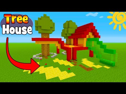 Minecraft Tutorial: How To Make A Kids Tree House