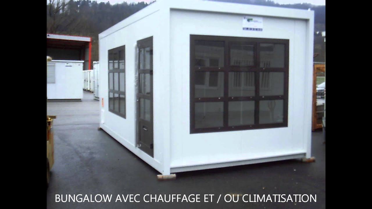 Construction modulaire besancon location bungalow de for Maison container franche comte