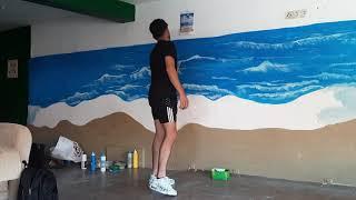 Deniz manzarası çizimi