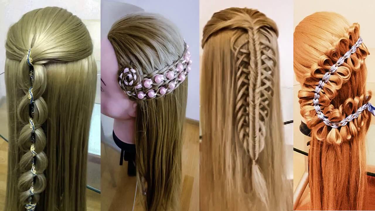 Причёски для длинных волос Летние косы Красивые плетения Hair tutorial