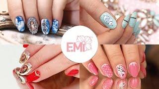 Дизайн ногтей от Екатерины Мирошниченко. Багетная лепка и декупаж.