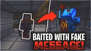 WE BAITED THEM WITH A FAKE MESSAGE... (GONE WRONG) | Minecraft HCF
