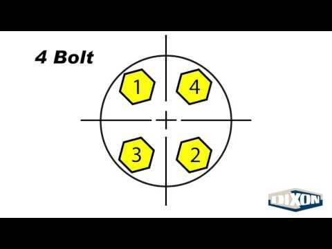 Flange Bolt Tightening Sequence - YouTube