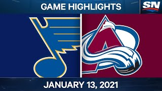 NHL Game Highlights | Blues vs. Avalanche – Jan. 13, 2020
