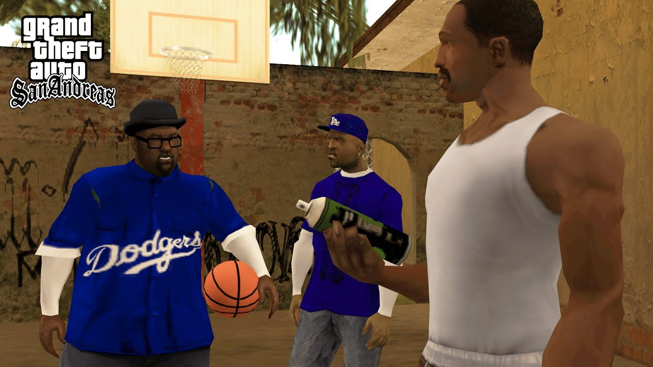 Crips vs Bloods Tagging Up Turf Mission in GTA San Andreas! (REAL GANGS)