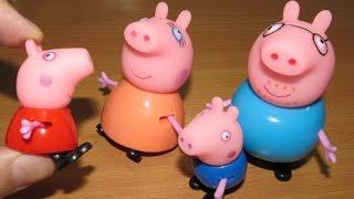 Свинка Пеппа и ее семья. Фигурки героев мультика из Китая. Peppa Pig toys.