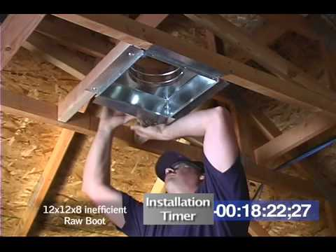Overhead Vent Boot Installation Youtube