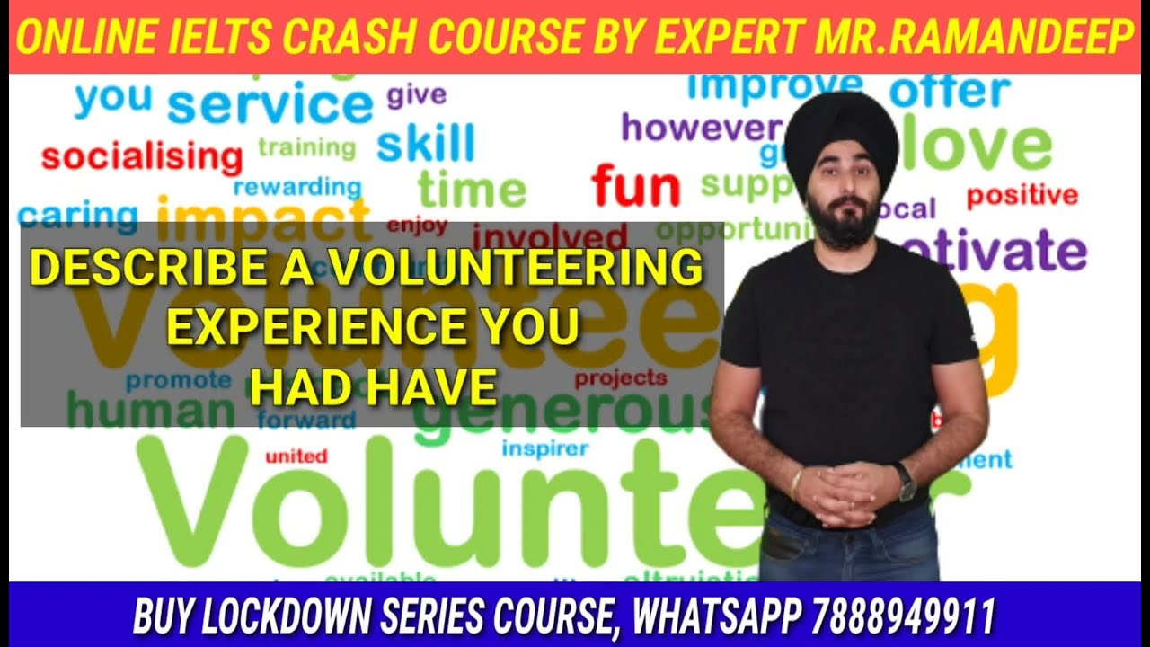 Describe A Volunteering Experince You Have Had | New Cue Card Voluntary Experience | Sample Band 8.0