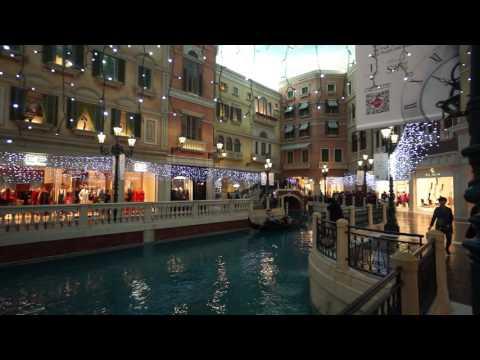 Macau, walking inside The Venetian Resort Hotel