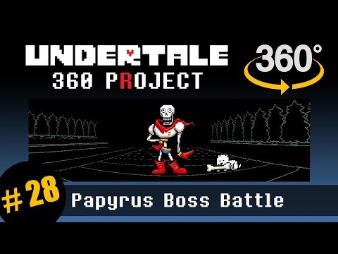 Papyrus Battle 360 (pacifist): Undertale 360 Project #28