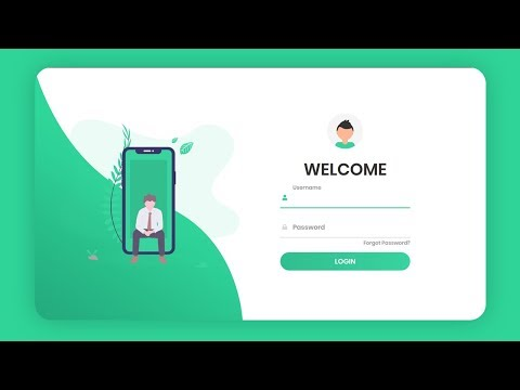 Responsive Animated Login Form Using HTML & CSS & JavaScript (2020)