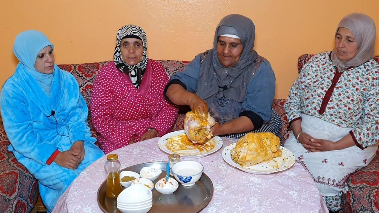 لمونيز و مطارنون???? سحور ليلة النصف من رمضان بالدجاج معمر بطريقة لالة دريسية