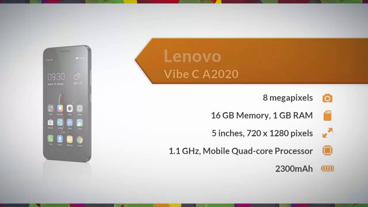 Lenovo Vibe C A2020 Specifications - Daraz Pk