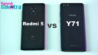 Vivo Y71 vs Redmi 5 Speed test, Camera and Charging Compare