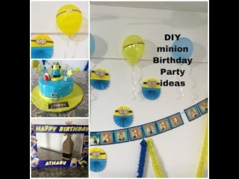 DIY Minion Birthday Party Decoration Ideas