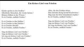 Ein kleines Lied vom Frieden - Christoph Holzhöfer