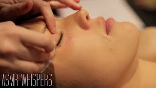 ASMR Whispering   Facial Cleanse & Exfoliate