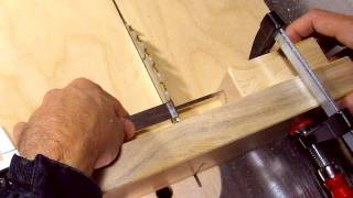 Precise table saw cuts to make a puzzle