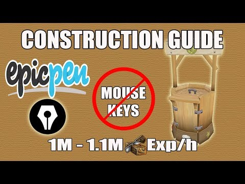 [Runescape 3] Updated Construction Guide | No Mouse-Keys | 900+ Prawnbrokers/Hour!