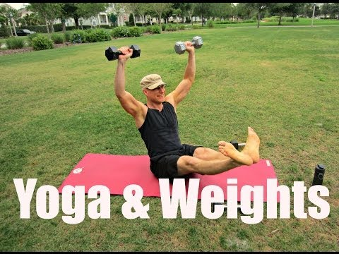 Power Yoga with Weights Workout - 12 min