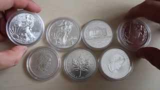 видео Серебряные инвестиционные монеты