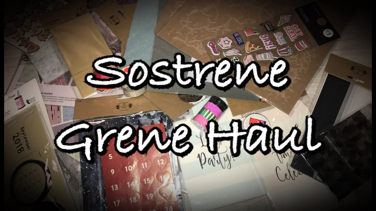 Sostrene Grene Haul (deutsch) Weihnachten, Scrapbook basteln mit ...