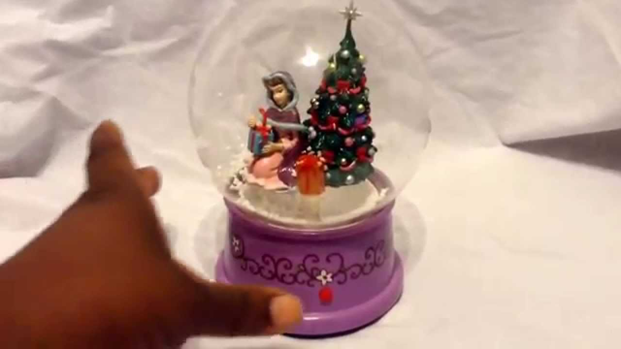 walt disney beauty and the beast belles snowglobe blowing air snow - Disney Beauty And The Beast Christmas Decorations