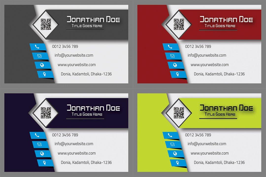 Creative Modern Decent 3D Business Card Just edit details by using ...