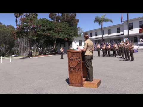 Marine Ceremony at Camp Pendleton