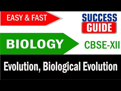 CBSE XII Biology  Evolution -5  Biological Evolution - Success Guide