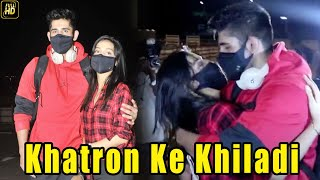 Varun Sood with GF Divya Agarwal shares a Goodbye KISS At Airport | Khatron Ke Khiladi 11