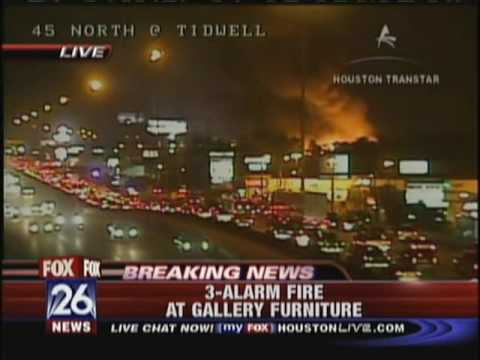 Gallery Furniture Fire Kriv Houston Fox 26 Youtube