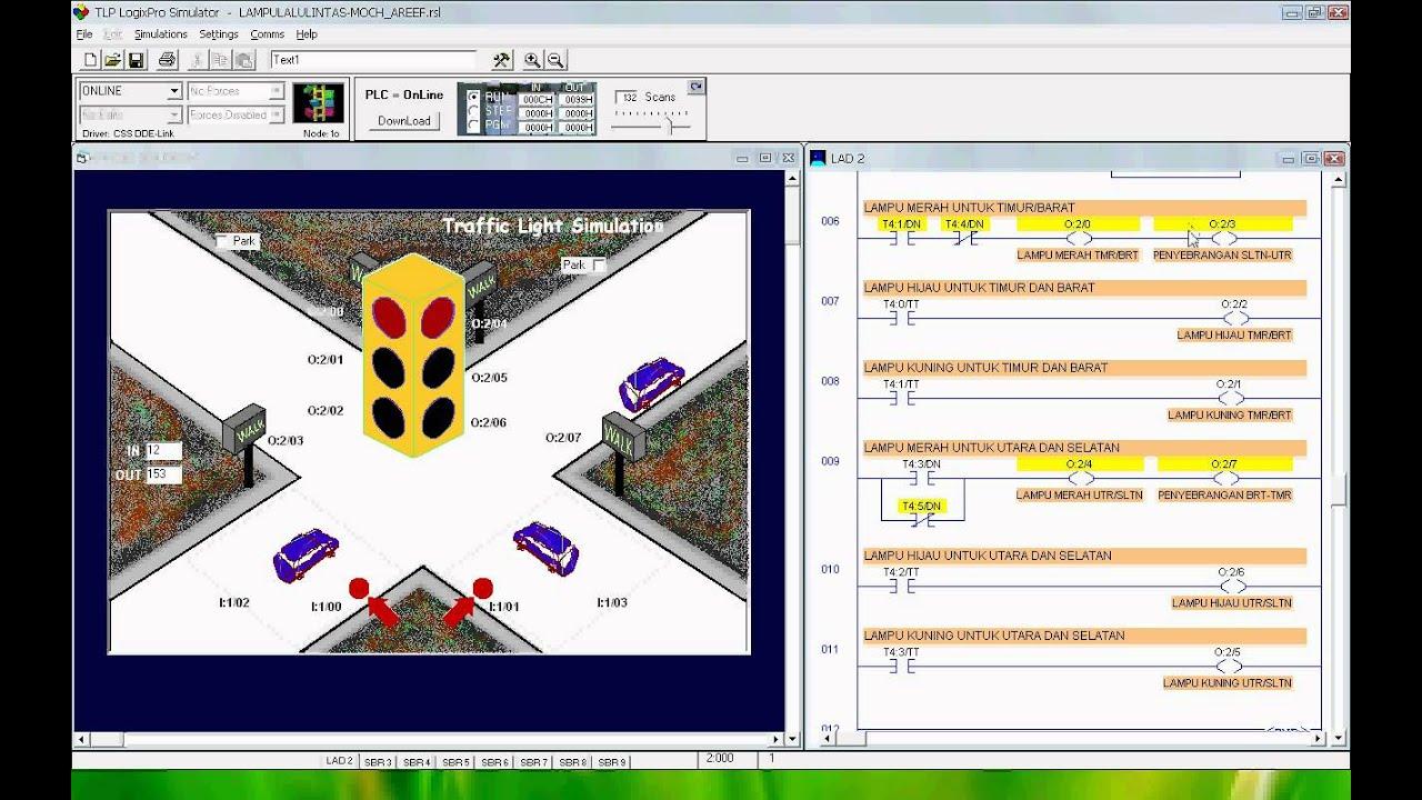 Logixpro Traffic Light Ladder Diagram 1973 Honda Ct70 Wiring Trafficlight By Moch Areef Avi Youtube
