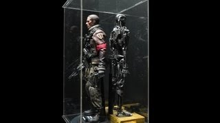 1/6 Scale Action Figure Display Case With Led Light