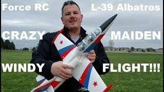 Force RC - Cloud Nine - L-39 Albatros - Maiden Flight in EXTREME WIND!!!