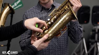 How to use Key Leaves sax key props on Martin Committee III Alto Sax