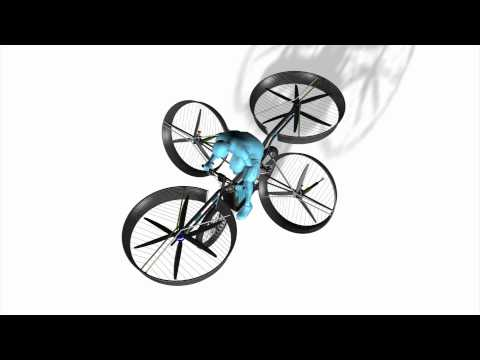 Czech engineers design flying bicycle
