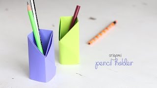 DIY: Origami Pencil Holder